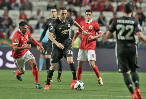 Champions: Benfica perde com Manchester United