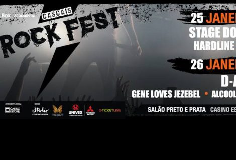 Alcoolémia, D.A.D., Gene Loves Jezebel e Hardline no cartaz do Cascais Rock Fest