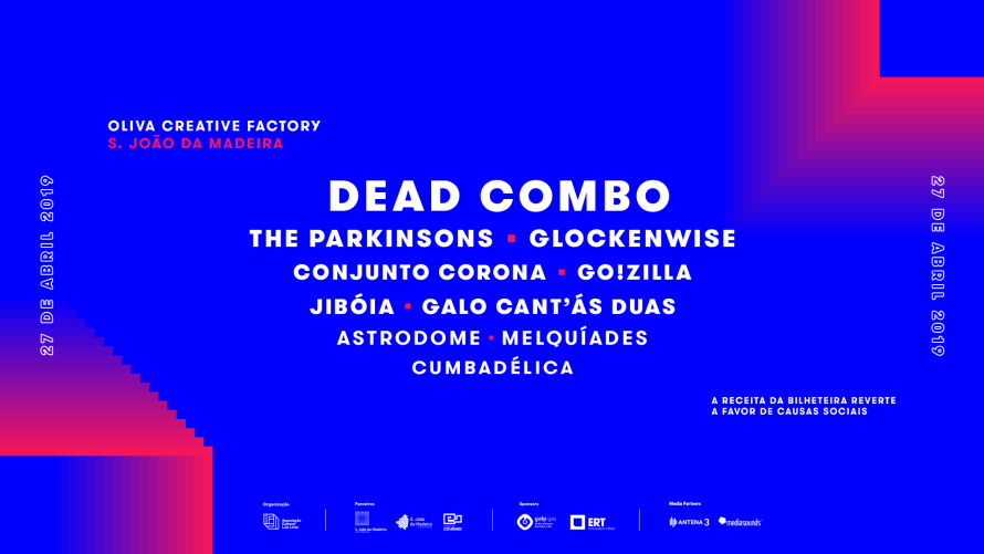 "Dead Combo, The Parkinsons e Go!zilla no festival ""Party Sleep Repeat"" de 2019"