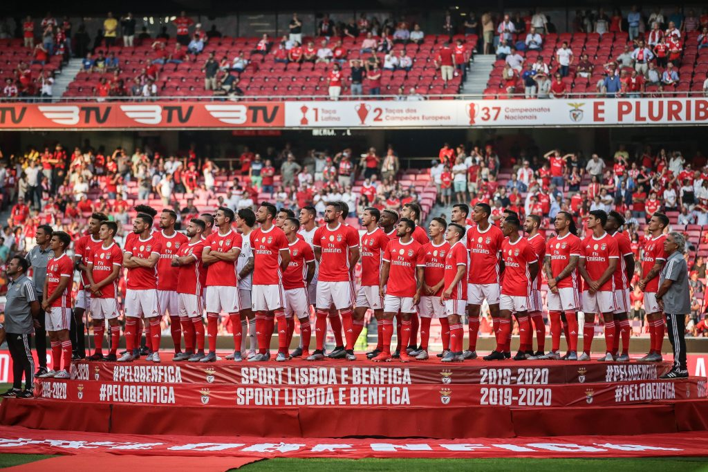 Benfica's players before a friendly match against Anderlecht at Luz Stadium, in Lisbon, Portugal, 10 July 2019. MARIO CRUZ/LUSA