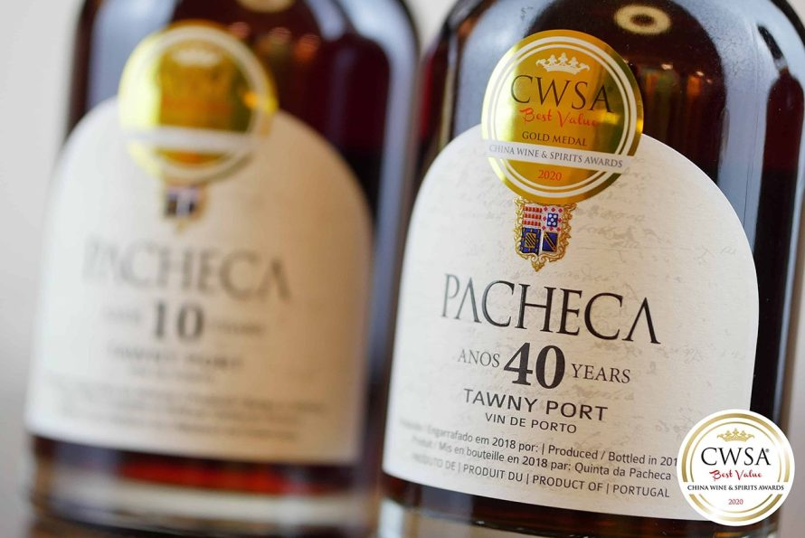 Portos Tawny da Pacheca medalhados com ouro no China Wine & Spirits Awards