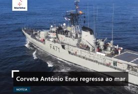 Corveta António Enes regressa ao mar
